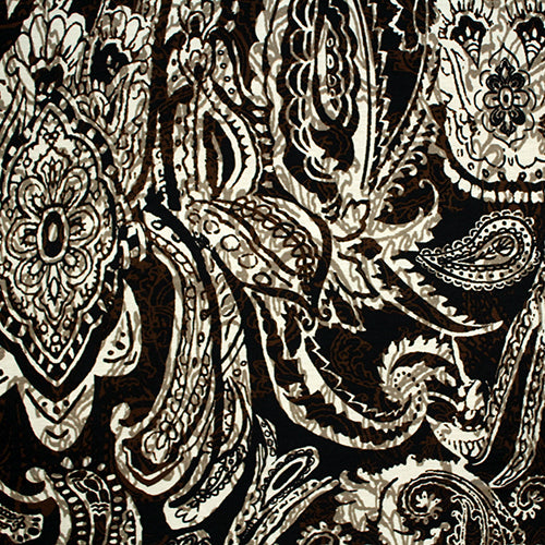 Henna Paisley in Brown Eternity Scarf