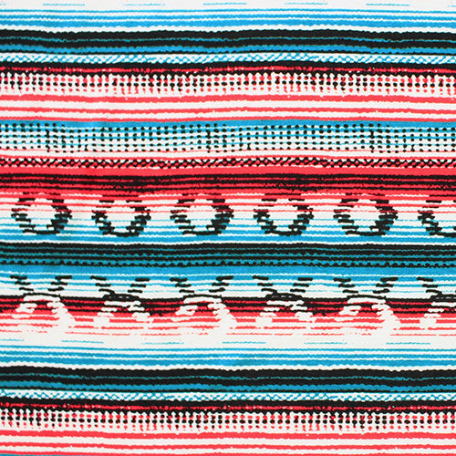 Navajo Blanket in Turquoise/Red Head Hugger
