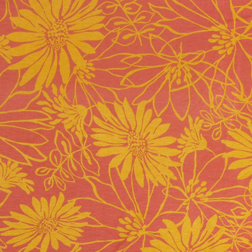 Mustard Floral on Marsala Head Hugger