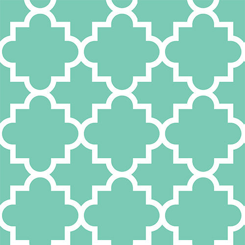 Mint Quatrefoil Head Hugger
