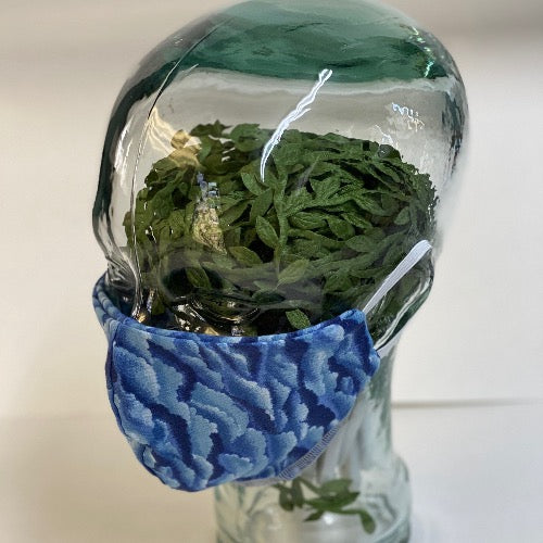 Face Mask in Green Argyle