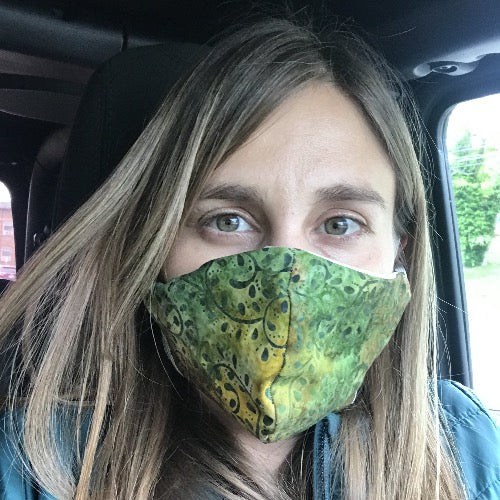 Face Mask in Peacock Feather