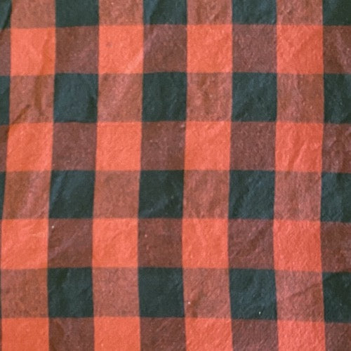 Face Mask in Black/Red Lumberjack