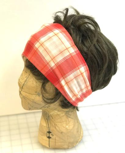 Orangey Plaid Head Hugger