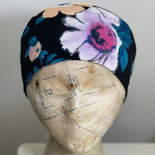 Faded Watercolor Floral Head Hugger