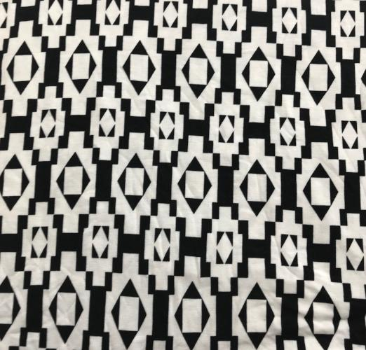 Black and White Ikat Head Hugger