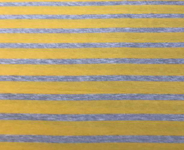 Mustard and Grey Stripe Eternity Scarf