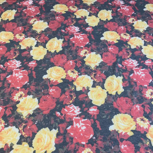 Vintage Roses Yellow and Red Head Hugger
