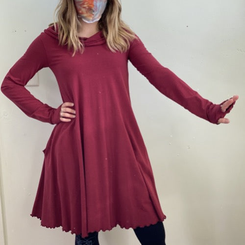 Mia Dress in Ruby S/M ~ READY TO SHIP
