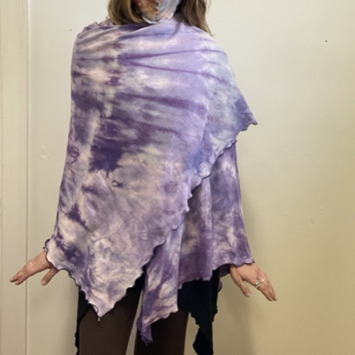 The Nomad Shawl Hand-Dyed Purples ~ READY TO SHIP
