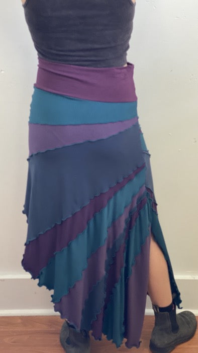 Sunburst Skirt Teal/Purple ~ S/M ~ READY TO SHIP