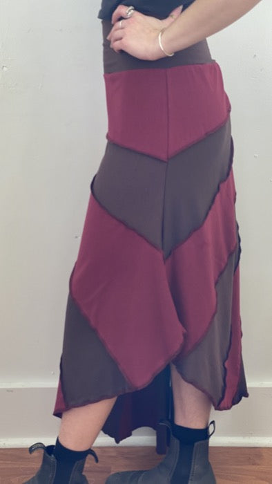Sunburst Skirt Ruby/Brown ~ S/M ~ READY TO SHIP