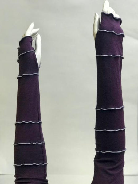 Amethyst with Lilac Arm Warmers