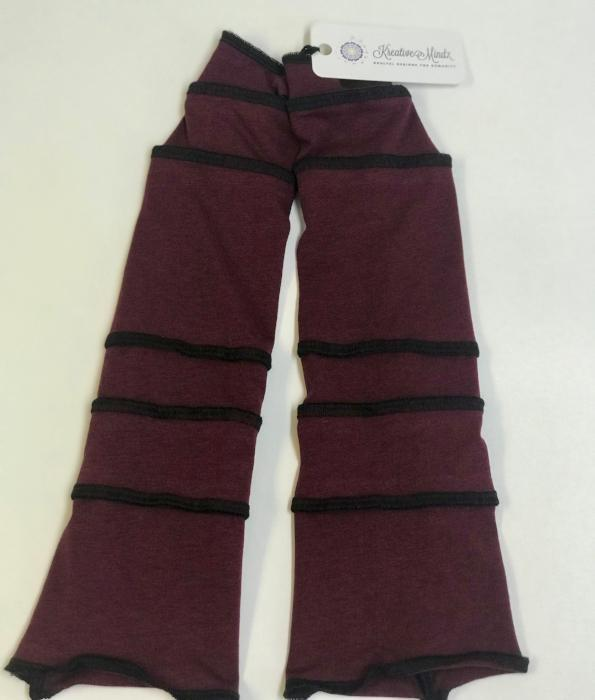 Port Red with Black Arm Warmers