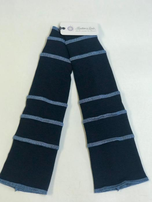 Navy with Sky Blue Arm Warmers