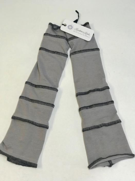 Light Grey with Black Arm Warmers