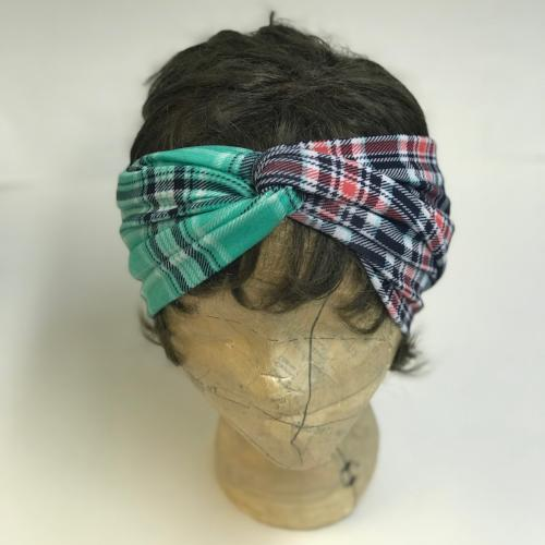 Plaid Two Tone Turband