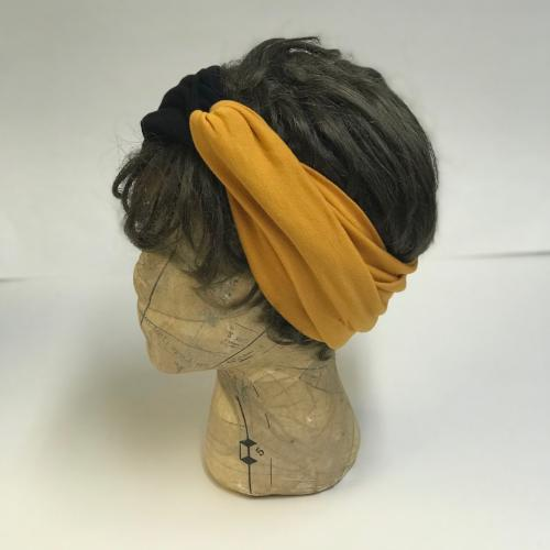 Black/Mustard Two Tone Turband