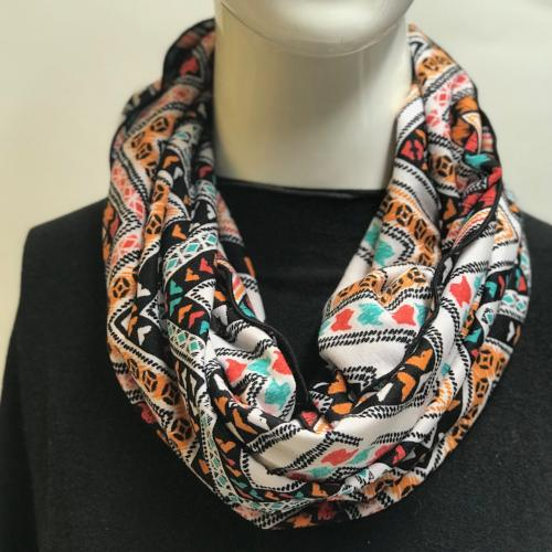 Fall Chevron Eternity Scarf