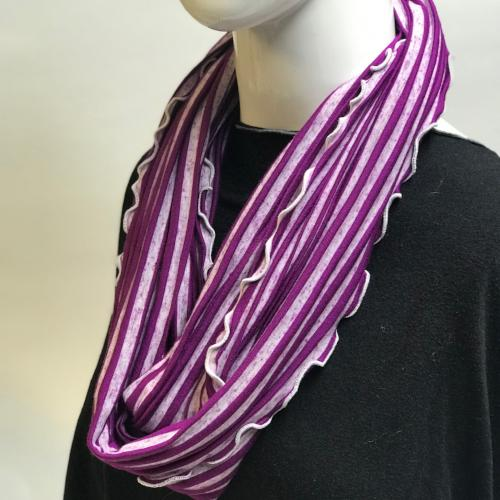 Purpley Stripe Eternity Scarf