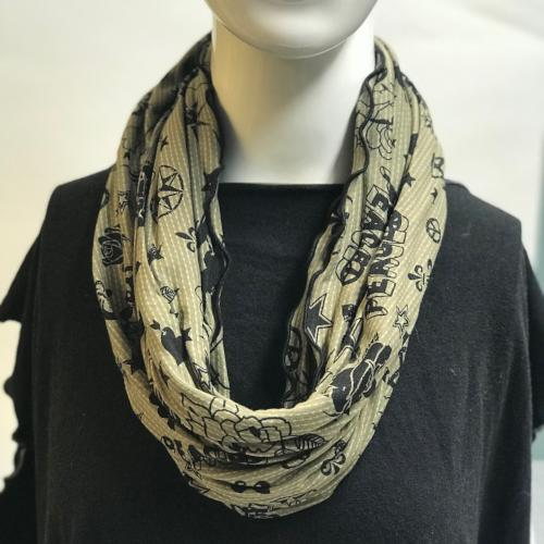 Peace and Love Eternity Scarf