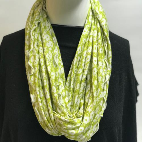 Lime Daisy Field Eternity Scarf