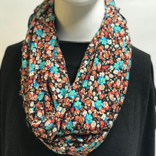 Autumn Flowers Eternity Scarf