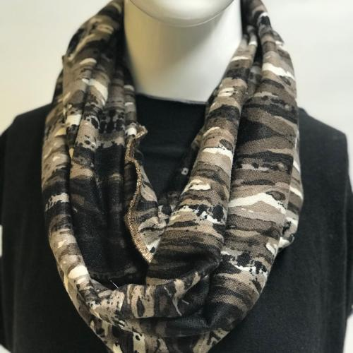 Abstract Camo Eternity Scarf