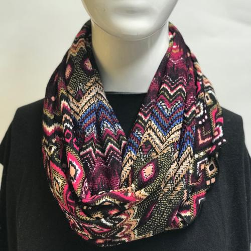 Colorful Chevron Eternity Scarf