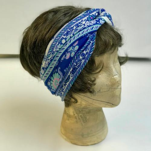 Blue Boho Turband