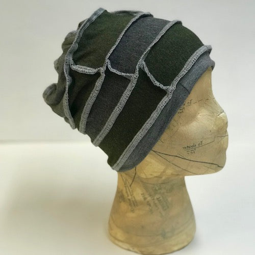 Green and Grey Slouch Hat