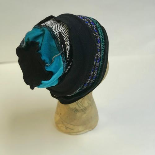 Black and Blues Slouch Hat
