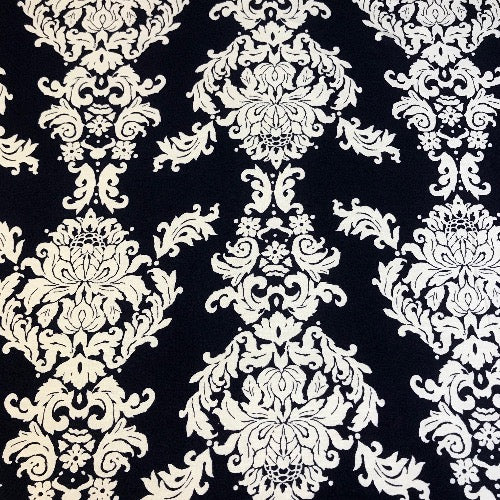 Floral Damask in Black and White Head Hugger