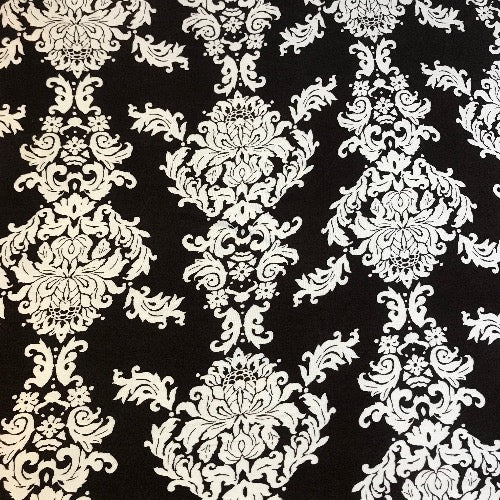 Floral Damask in Brown and White Head Hugger