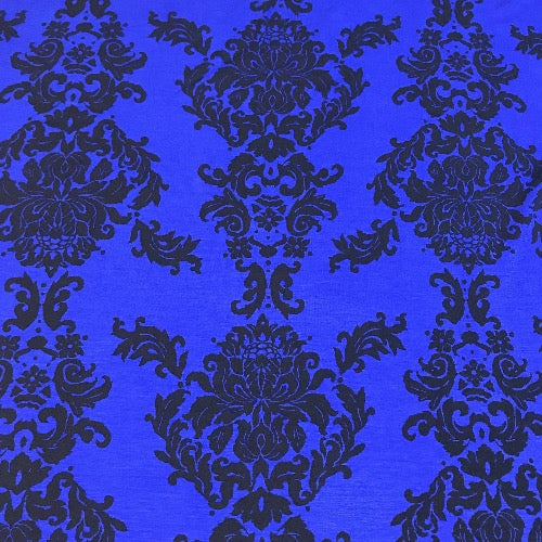 Floral Damask in Blue and Black Head Hugger