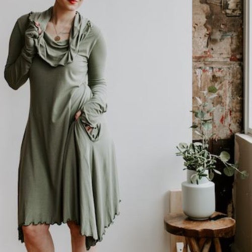 Mia Dress in Forest Green XL/2XL ~ READY TO SHIP