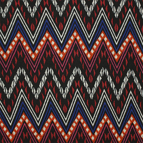 Ornate Chevron Red/Black Eternity Scarf