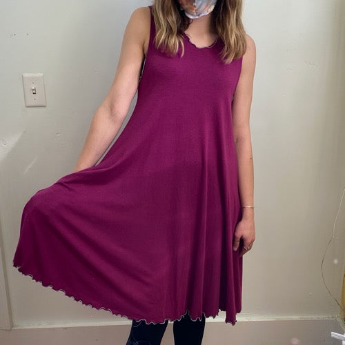 Matilda Dress in Fuchsia S/M ~ READY TO SHIP