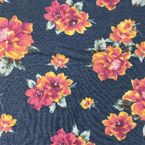 Bright Floral on Dusty Blue Head Hugger
