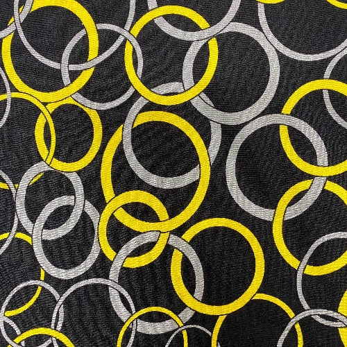 Circle Game in Yellow and Grey Head Hugger