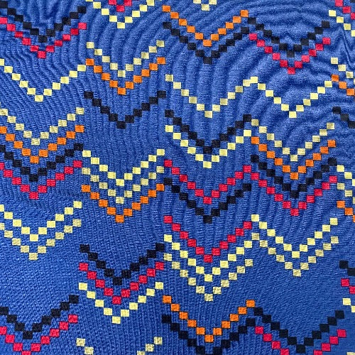 Dotty Chevron on Blue Head Hugger