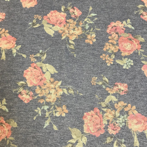 Vintage Floral on Denim Blue Head Hugger