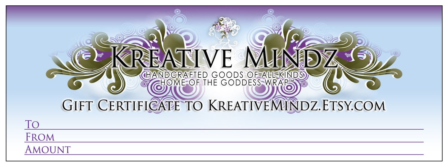 Gift Certificate to KreativeMindz