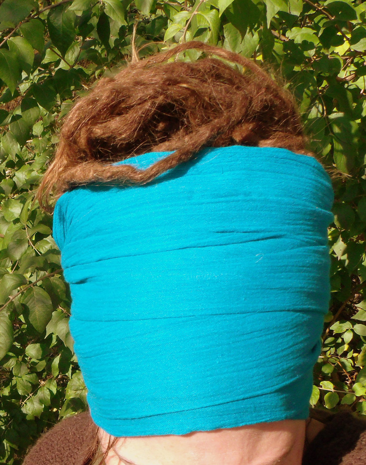 Island Breeze Teal Gauze Goddess Wrap or Man Wrap