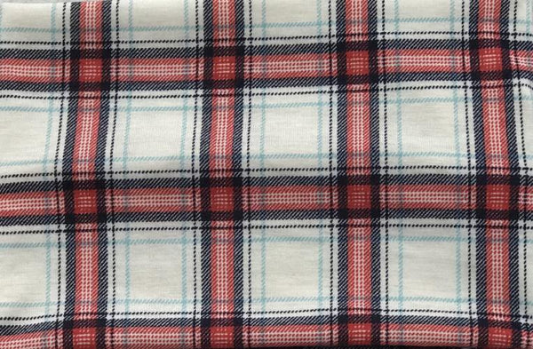 White/Red/Navy Plaid Head Hugger
