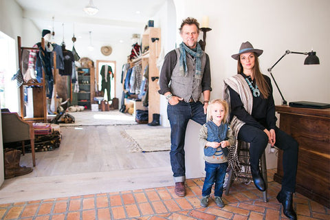 """Wherever we are, we're looking and seeking and trying to find that next beautiful great thing,"" Channon says. On their recent cross-country trip home from Telluride Bluegrass Festival, the couple scoured dusty vintage shops and dealers alike, returning with a wealth of one-of-a-kind pieces."