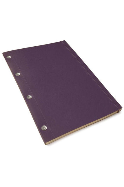 Classic Notebook - Large EGGPLANT, WHITE paper