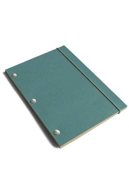 Classic Notebook - Medium AQUA, WHITE Paper