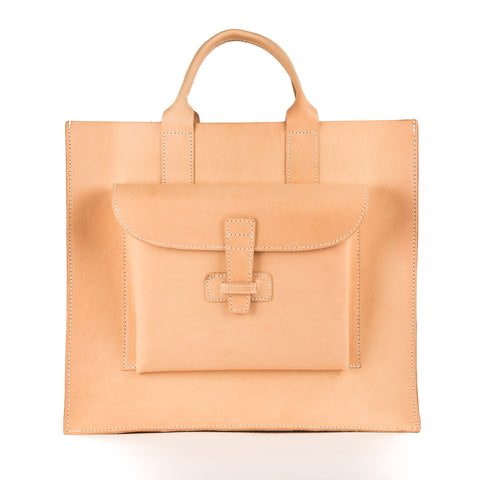 Natural Leather Tote Large - SAC 2