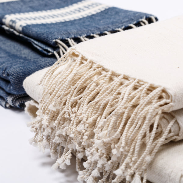 Aden - Natural with Rattan Hand Towel